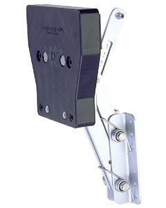 """Garelick Aluminum Auxiliary Motor Bracket for up to 82 lbs 2-Stroke Motors 7-1/2 to 12hp, 14-1/4"""" Travel"""