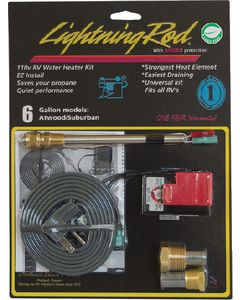 Western Leisure Products 6 Gal. Atwood/Sub. Heater Kit - Lightning Rod Electric Rv Water Heater Kit