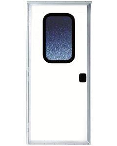 24X68 Rh Col Wht W/Screen Door - Combination Rv Door With Full Interior Screen Door Series 5050