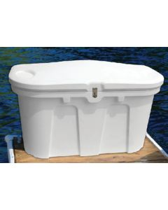 "Taylor Made Dock Box, Classic White, 67""L x 28""W x 24.5""H"