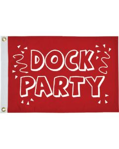 "Taylor Made, Red Flag, Dock Party, 12"" x 18"", Signal Flags"