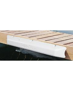 "Taylor Made Dock Pro Heavy-Duty Vinyl Dock Bumper 4"" D x 5"" H White"