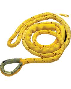 "New England Ropes Mooring Line, Poly / Nylon, 5/8"" x 12' w/ Thimble"