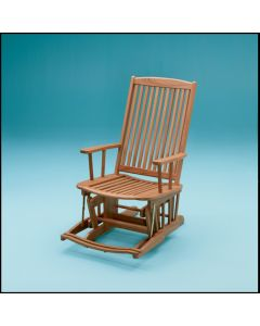 Whitecap Finished teak glider chair