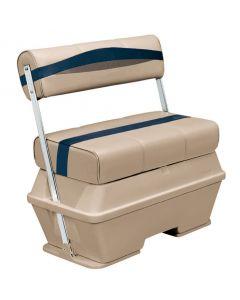 Wise Premier Pontoon 50 Quart Cooler Flip-Flop Seat, Mocha-Mocha Java Punch-Midnight-Rock Salt