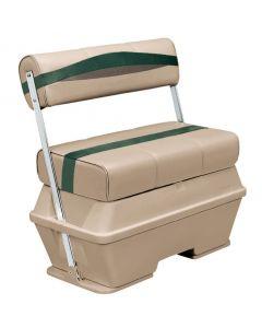 Wise Premier Pontoon 50 Quart Cooler Flip-Flop Seat, Mocha-Mocha Java Punch-Evergreen-Rock Salt