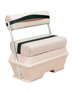 Wise Premier Pontoon 50 Quart Cooler Flip-Flop Seat, Platinum-Platinum Punch-Jade-Fawn