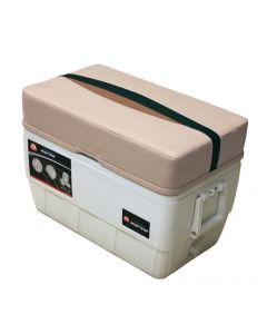 Wise Premier Pontoon 48 Quart Igloo Cooler with Cushion, Platinum-Platinum Punch-Jade-Fawn