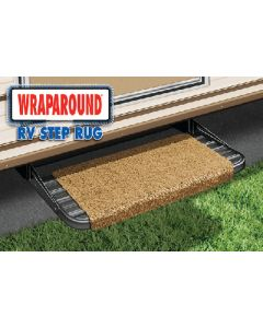 Prest-O-Fit Wraparound Step Rug Black - Wraparound Step Rugs