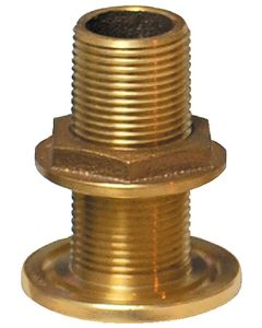 "Groco 1-1/4"" Thru-Hull Fitting With Nut, 1 1/4"" Thread"