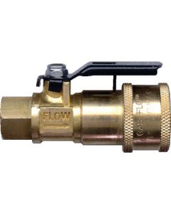 JR Products Coupler With Shut-Off - Coupler W/ Shut-Off