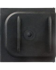 JR Products 12In Screen Slider Black - Screen Door Slider