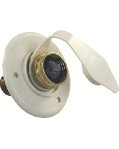 JR Products City Water Hatch Colonial Wht - City Water Flange