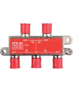 JR Products 4-Way 2 Hd/Sat. Line Splitter - 4-Way 2.4 Ghz Hd/Satellite Line Splitter