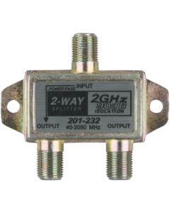 JR Products 2-Way 2 Ghz Hd/Sat.Line Split. - 2-Way 2 Ghz Hd/Satellite Line Splitter