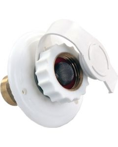 JR Products City Wtr Flange Plstc Wht Mpt - City Water Flange