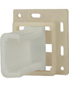"""JR Products Drawer-Sl Socket Set Lg Incin - Drawer Slide Socket Set """"C"""" Shape"""