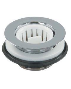 JR Products Strainer Screw-In-Basket White - Strainer W/Threaded Basket