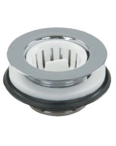 JR Products Strainer Screw-In-Basket Chr - Strainer W/Threaded Basket