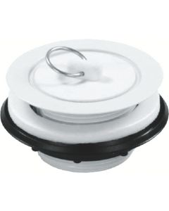 JR Products Strainer Rubber Stopper White - Strainer W/Rubber Stopper