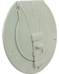 JR Products Storagehatchcolonial White - Utility/Pole Storage Access Hatch