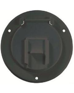 RV Designer Basic Cable Hatch Round Blk - Round Cable Hatch