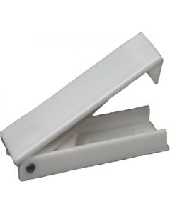 RV Designer Catch-Baggage Door-Sq Wht 2Pk - Baggage Door Catch