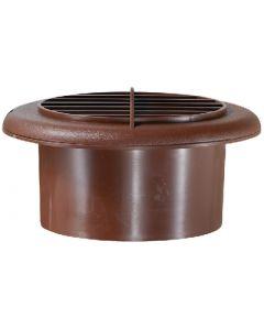 RV Designer Provent Dampered 4  Walnut - Furnace/Ac Vent With Damper