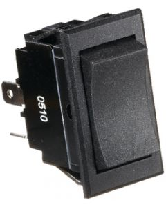 RV Designer Switch-Rocker 20A 4-Term Black - Dc Rocker Switch