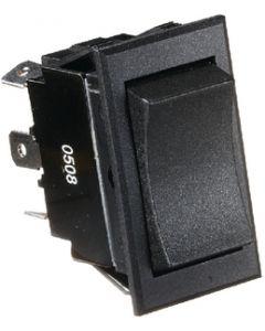RV Designer Switch-Rocker 20A 6-Term Black - Dc Rocker Switch