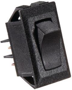 RV Designer Switch-Rocker 10A On-Off Black - Dc Rocker Switch