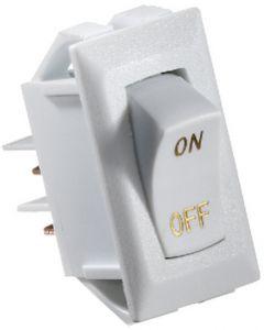 RV Designer Switch-Rockr 10A Wht Gold-Text - Dc Rocker Switch