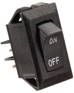 RV Designer Switch-Rockr 10A Blk Slvr-Text - Dc Rocker Switch