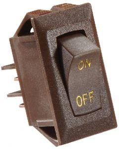 RV Designer Switch-Rockr 10A Brn Gold-Text - Dc Rocker Switch