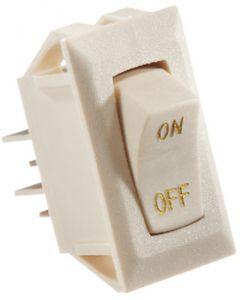 RV Designer Switch-Rckr 10A Ivor Gold-Text - Dc Rocker Switch