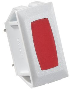 RV Designer Switch Ill W-Red Light-White - Indicator Light - Sp