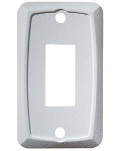 RV Designer Mounting Plate-Single White - Rocker Switch Mounting Plate