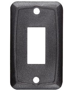 RV Designer Mounting Plate-Single Black - Rocker Switch Mounting Plate