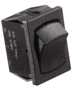 RV Designer Switch-Rocker 10A On-Off Black - 5-10 Amp Rocker Switch On/Off - Spst