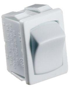 RV Designer Switch-Rocker 10A On-Off White - 5-10 Amp Rocker Switch On/Off - Spst
