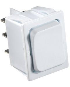 RV Designer Switch-Rocker 5A On-Off-On Wht - Dc Rocker Switch