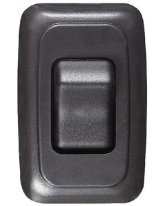 RV Designer Switch-Wall Sgl On-Off Black - Contoured On/Off Wall Switch In Plate