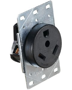RV Designer Flush Recp In Plate 30Amp - Ac 30 Amp Receptacle In Plate