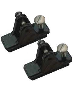 "Seadog Convertible Top Track Hinge Slide Lock .85 Black 7/8""W 2-7/16""L 3/16""P Line"