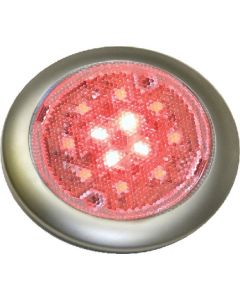 SeaDog 401679 Stainless White & Red LED 12V Surface Mount Low Profile Day & Night Task Light with On / Off Switch  #6 Fastener