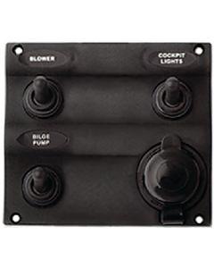 Seadog 3-Tgl Switch Panel W/Pwr Sct