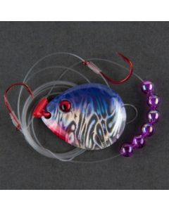 Berkley Flicker Rig - Hook Ct or Type/Size: front 2/back 4, Color: Blade-Purple Pearl/Bead-Purple WRFRMC4-PP