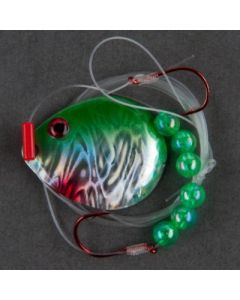 Berkley Flicker Rig - Hook Ct or Type/Size: front 2/back 4, Color: Blade-Green Pearl/Bead-Green WRFRMC5-GP