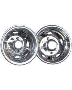 Wheel Masters Wheelliner Set 16 &16.5 8 Lug - Stainless Steel Wheeliners&Reg; For Dual Wheels (Namsco