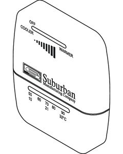 Suburban Mfg Wall Thermostat-Heat Only - Suburban Furnace Parts